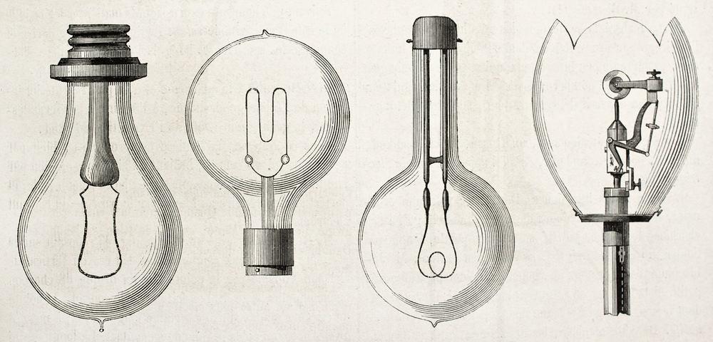 Light bulb designs 1882
