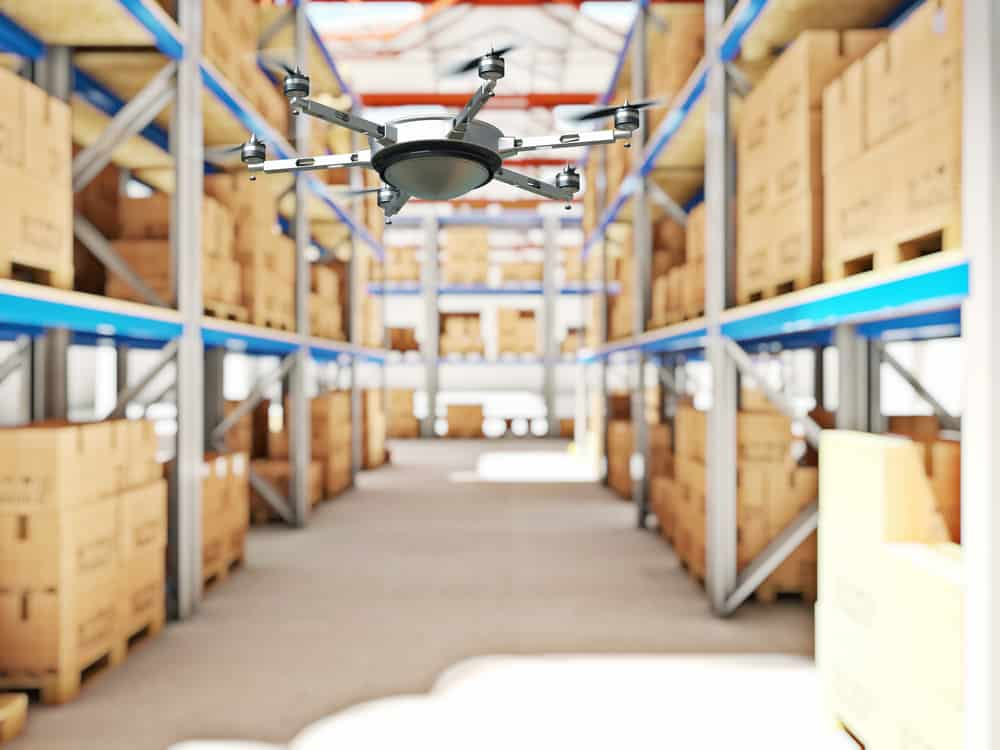 Amazon drone delivering products