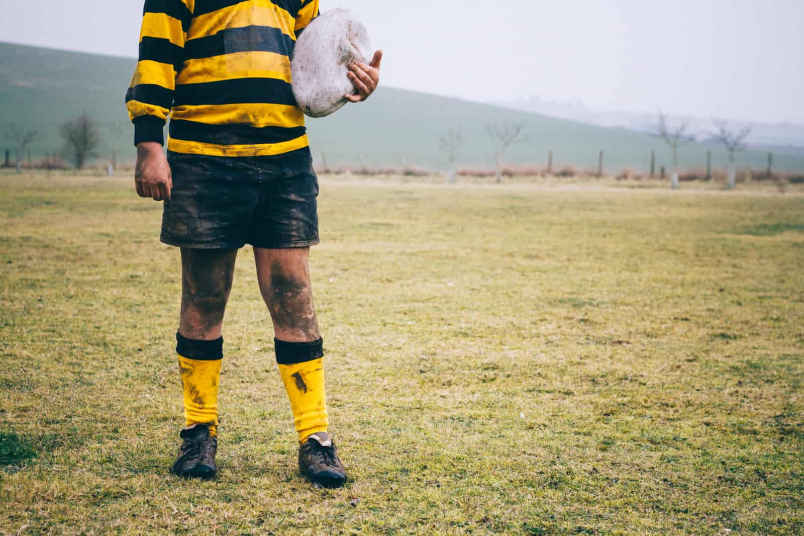 rugby player using innovative rugby tech