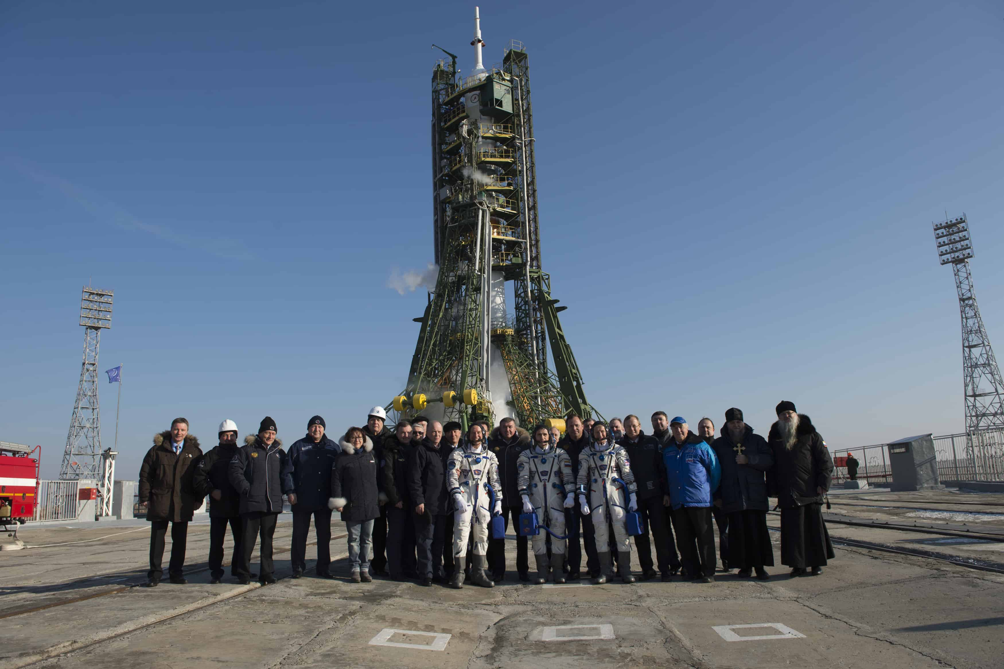 Tim Peake and the rest of the Soyuz TMA-19M astronauts and crew