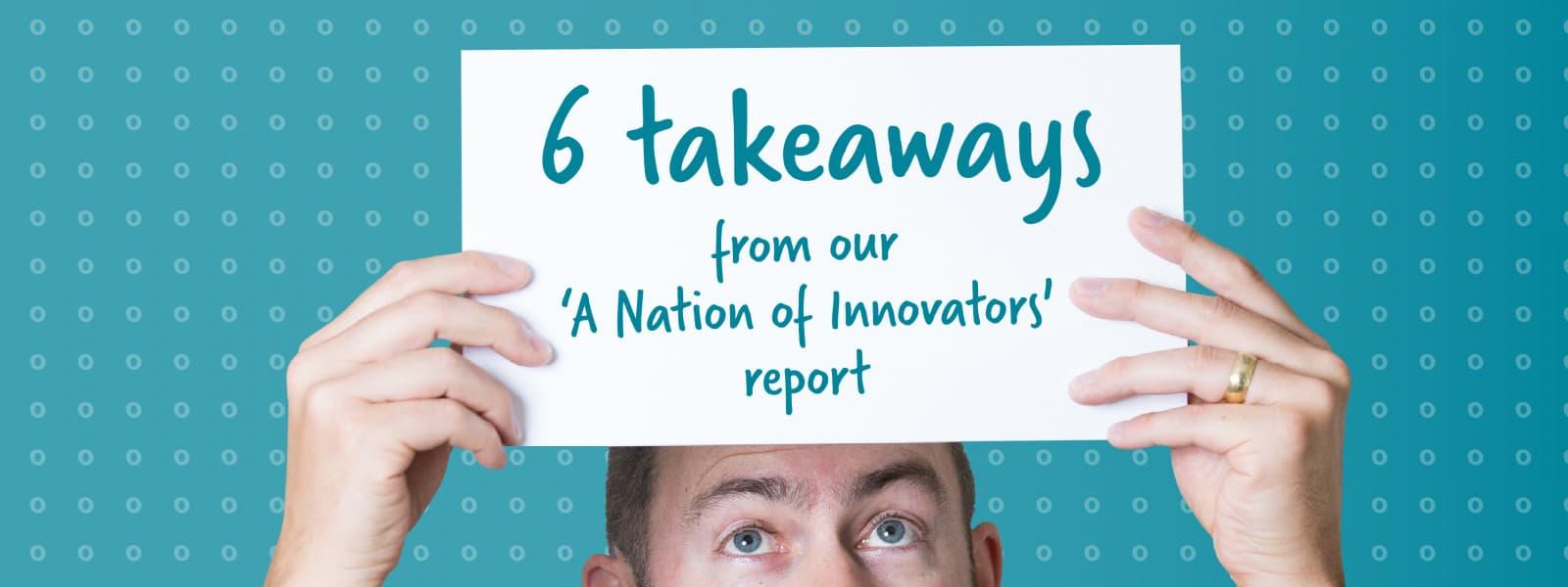6 takeaways held up on paper