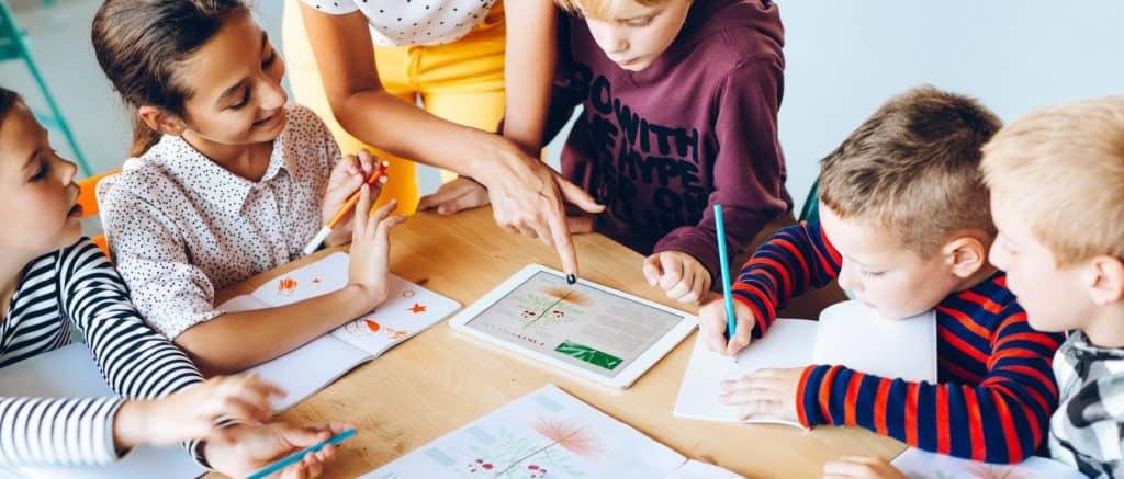 EdTech children using learning apps