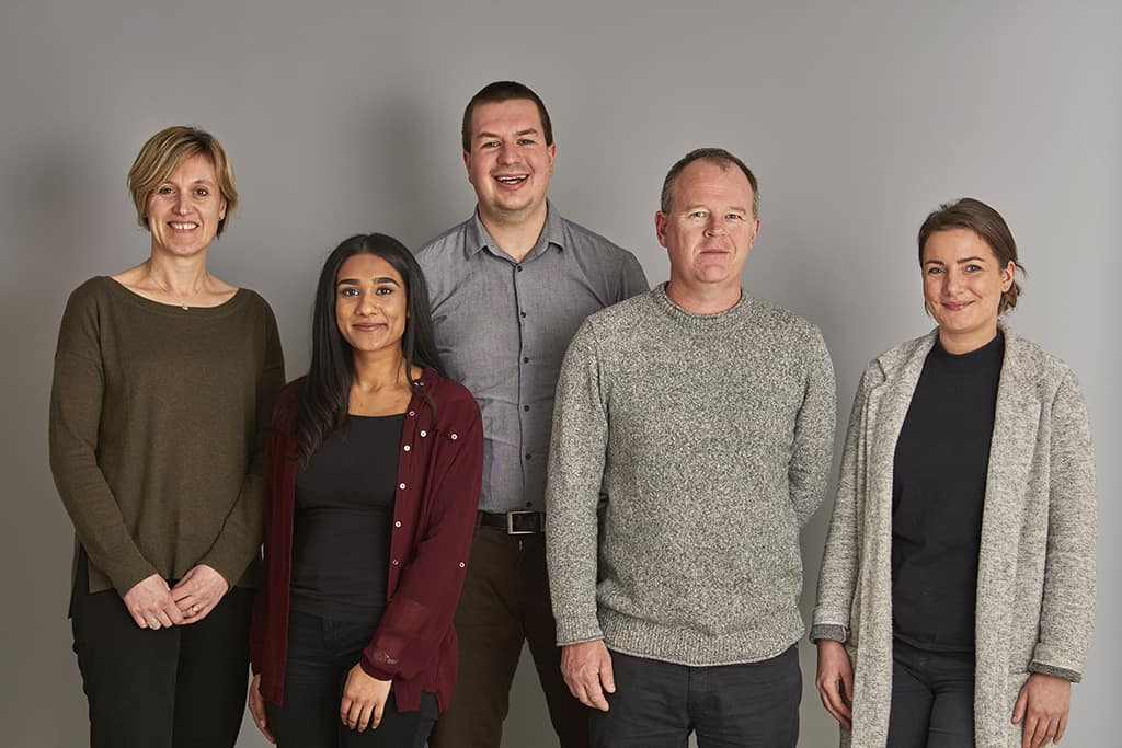 Photo of 5 new members of staff