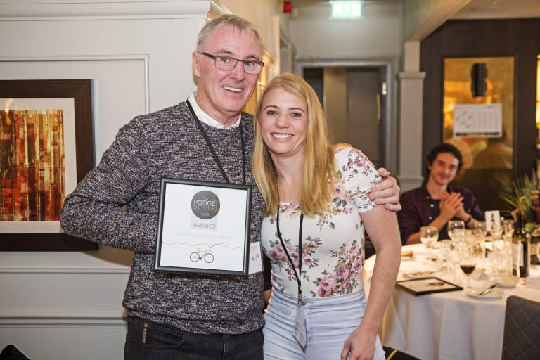Lisa-Marie-Smith and Phil Jones with certificate.
