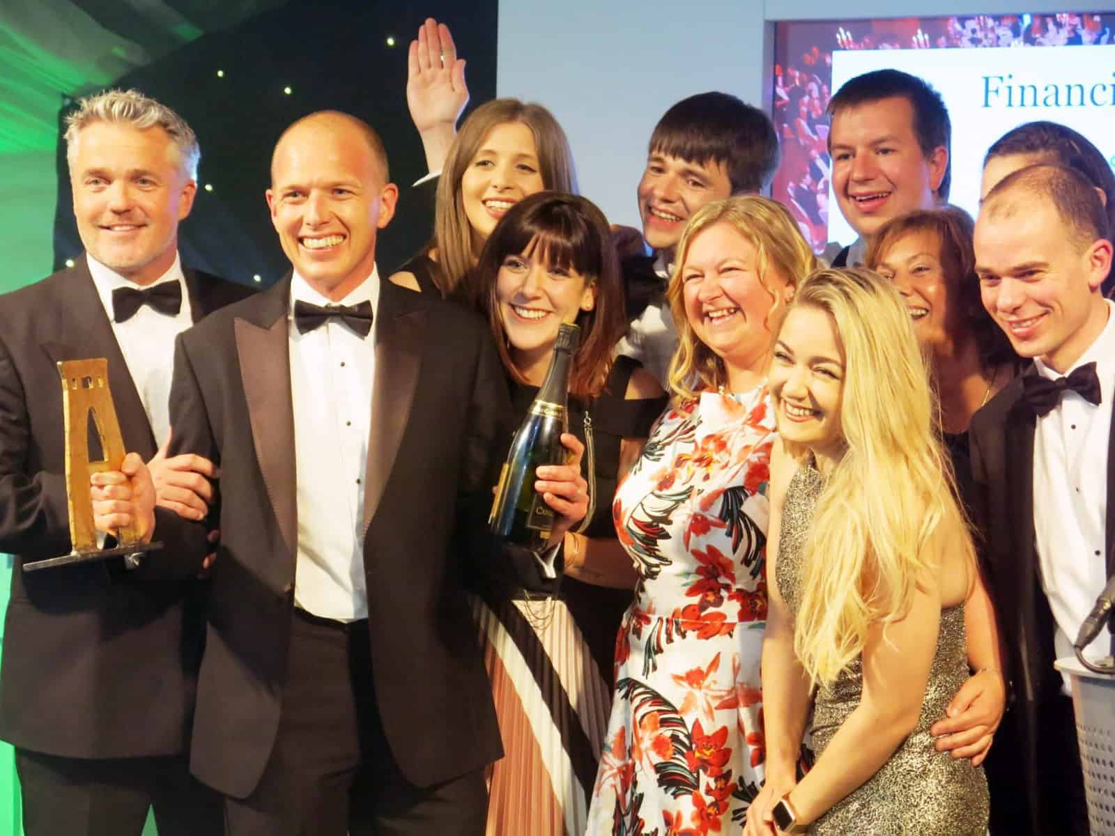 ForrestBrown team on stage at Bristol Life Awards 2017
