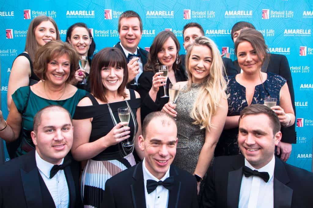ForrestBrown celebrating winning legal & financial category at Bristol Life Awards