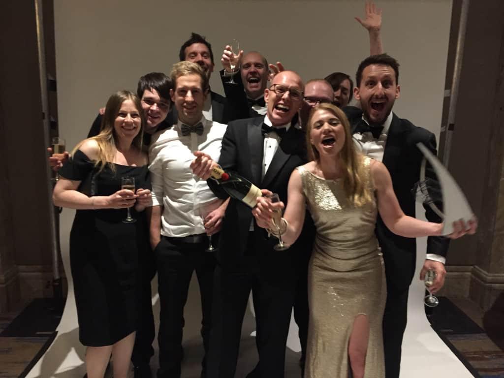 ForrestBrown celebrates Lisa-Marie Smith's Rising Star Award win 2017