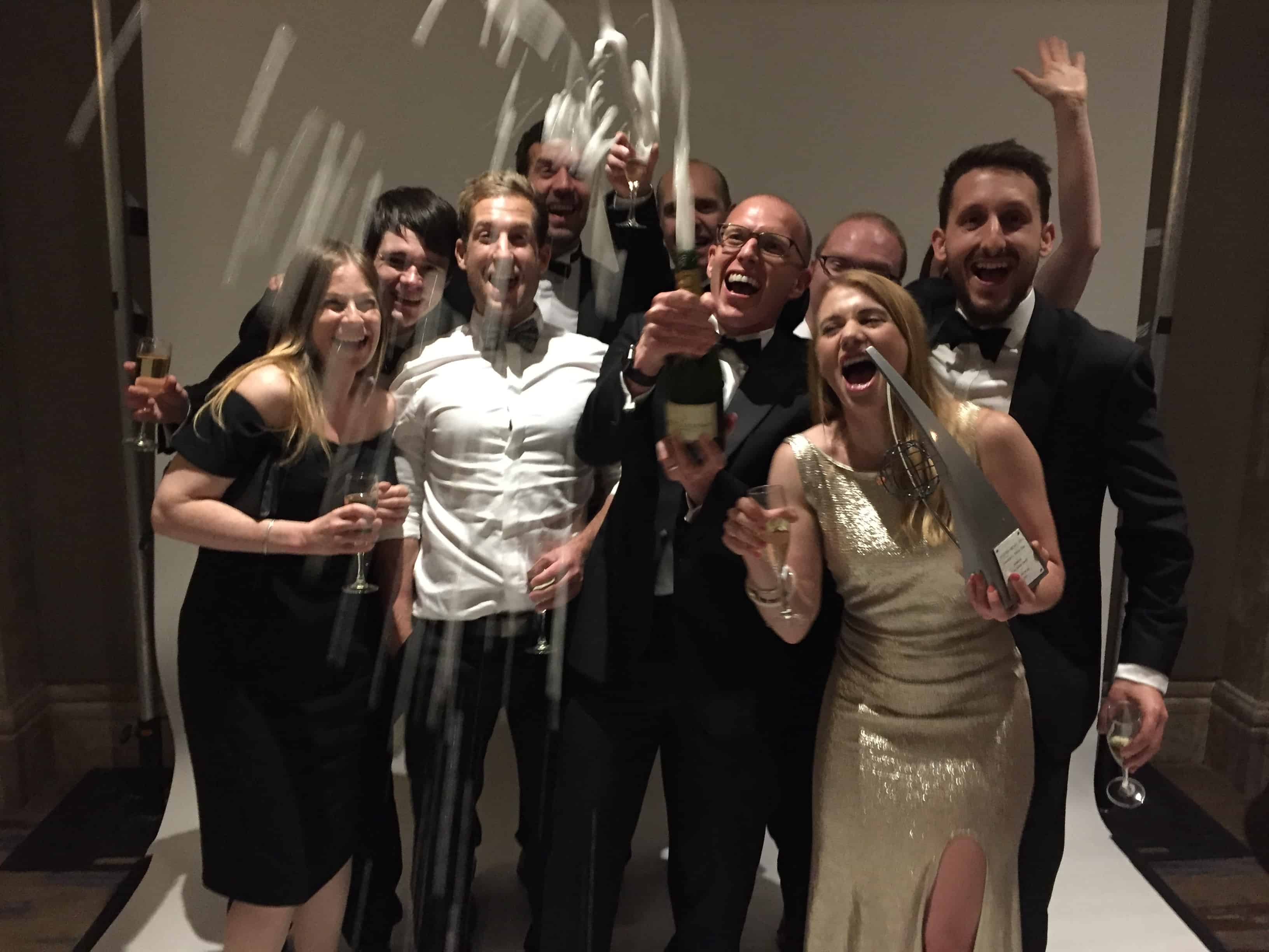 ForrestBrown celebrating Lisa-Marie Smith's Rising Star Award win 2017
