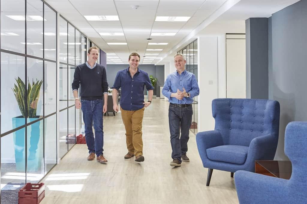 James Evans, Andy Royce, John McGhee in ForrestBrown offices