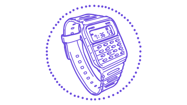 Casio calculator watch - 1980s tech gifts