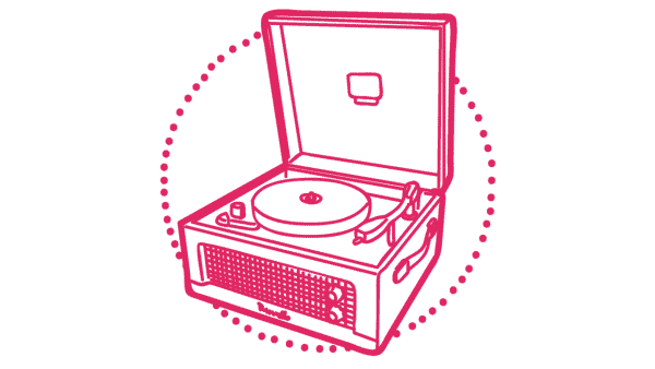 Dansette record player - 1960s tech gifts