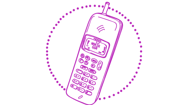 Mobile phone Nokia illustration - 1990s tech gifts
