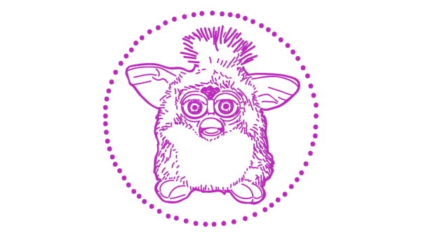 Original furbie illustration - 1990s tech gifts