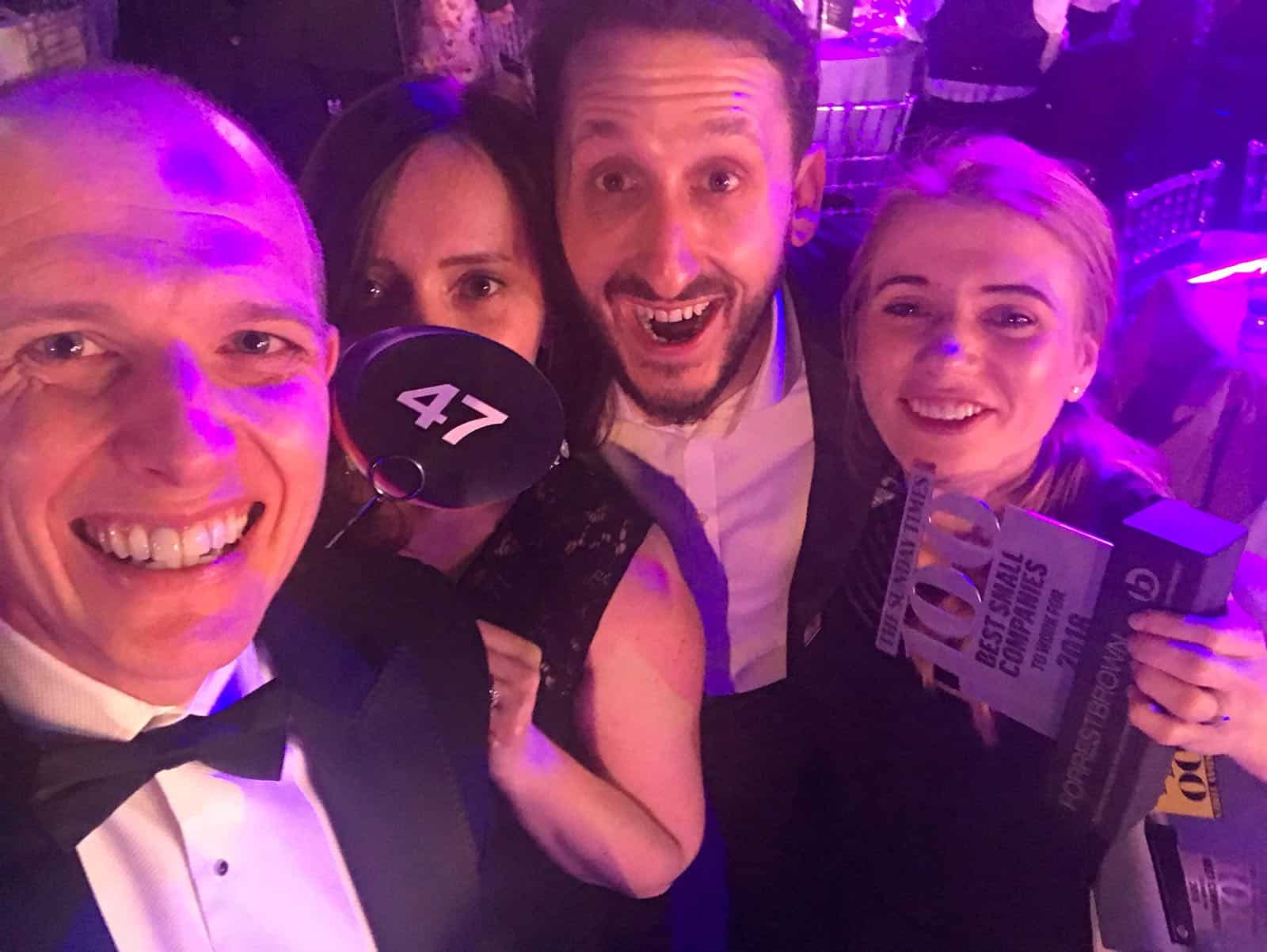 ForrestBrown excited to rank 47 of Top 100 Sunday Times Best Small Companies to Work For