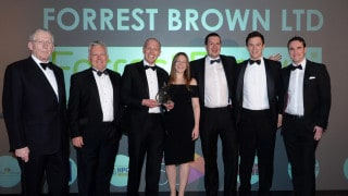 ForrestBrown team on stage at South West Fast Growth 50 2018