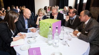 Participants in discussion at Think Tank