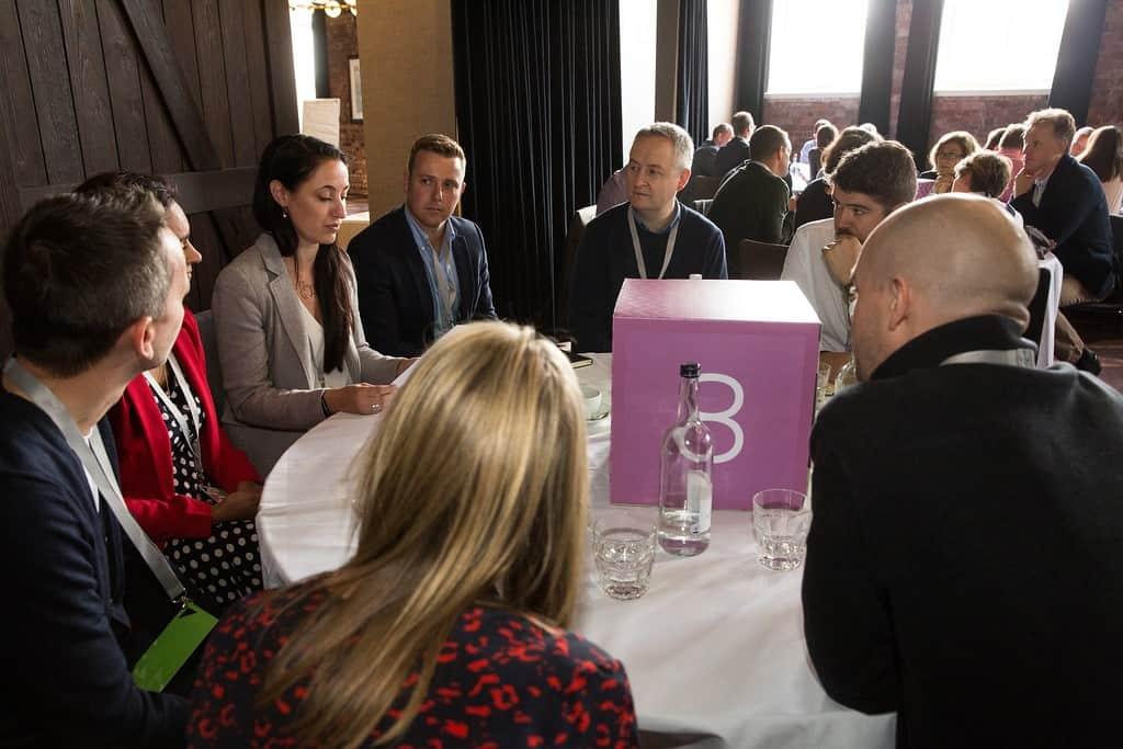 Think tank participants respond to cybersecurity scenario.