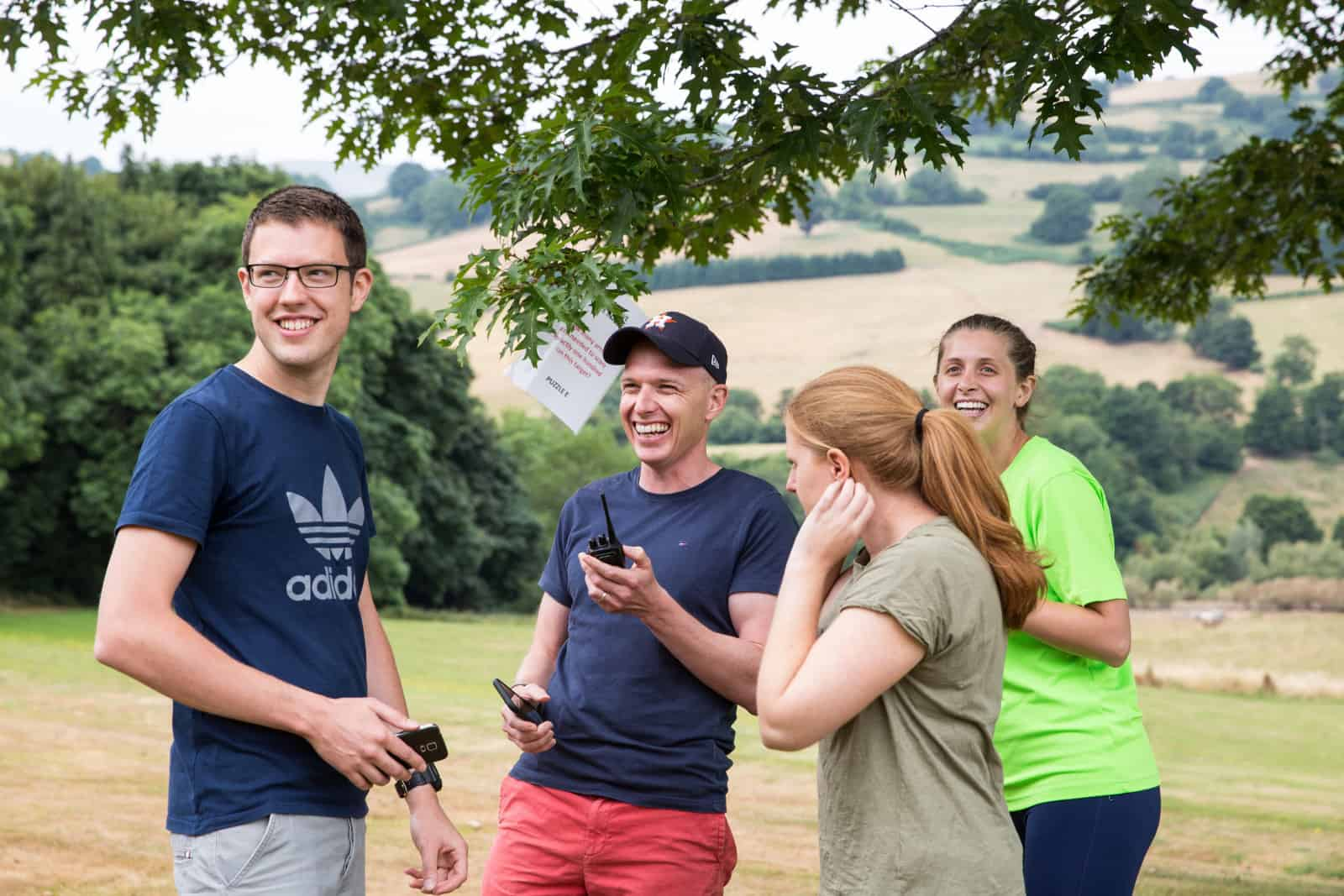 Simon Brown and team at Buckland Hall on the ForrestBrown summer away day