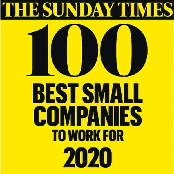 Sunday Times top 100 best small companies to work for 2020