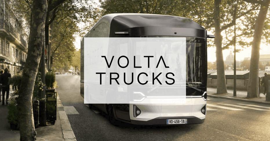 Volta Truck with company logo