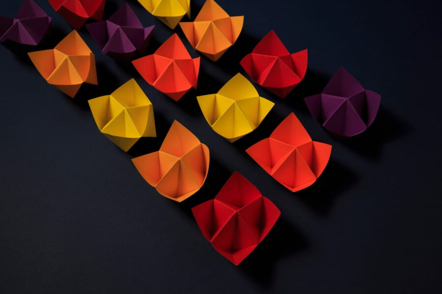 Paper fortune tellers used for decisions